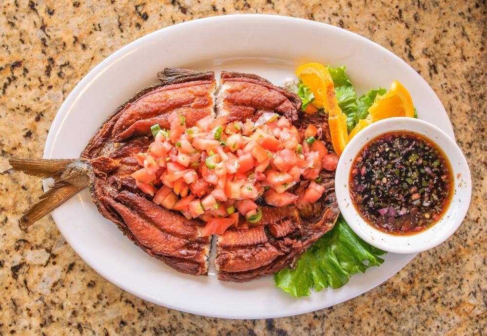 Food - Deep Fried Marianted Milkfish (Bangus)